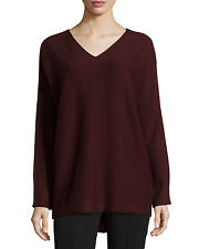 VM160 NWT VINCE V NECK WOOL CASHMERE WOMEN SWEATER SIZE M $245
