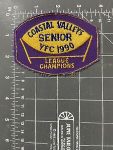 Vintage Coastal Valleys Senior YFC 1990 League Champions Patch Youth Football CA