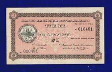 TIMOR 1 PATACA 1945 P15 X-FINE(-) RARE GRADE CL-1
