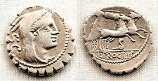 Republica Romana-Procilia. Denario. 80 a. C. Sur de Italia. EBC-/XF- Plata 3,8 g