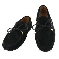 Fiori Di Lusso Daim Noir Dentelle Conduite Chaussures - (6B)