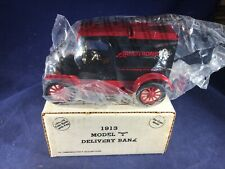H1-50 ERTL 1:38 SCALE DIE CAST BANK - 1913 FORD MODEL T - NIB - ARMSTRONG TIRES
