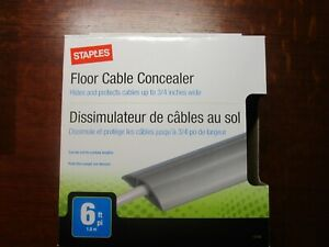 New Staples Floor Cable Concealer, Gray