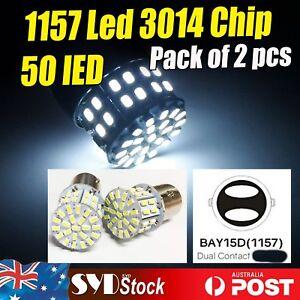 Pair LED Lights 1157 50SMD Car Tail Brake Parking Stop Reserve Turn Bulbs Repair