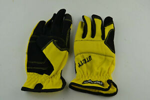 Firm Grip Utility Gloves YELLOW with Elastic Band Closure Work Size L LG LARGE