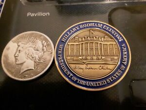 RARE FOR THE ELECTION TO PRESIDENT OF HILLARY CLINTON CHALLENGE COIN