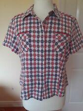 Phase Eight Short Sleeve Checked Shirt Size 14/16