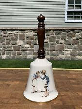 """Vintage 1979 Norman Rockwell """"Beguiling Buttercup�Hand Bell By Gorham Fine China"""