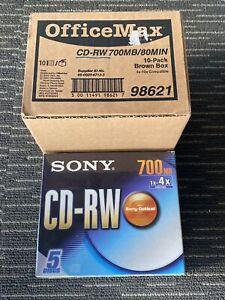 CD-RW 700 MB X 15 Lot