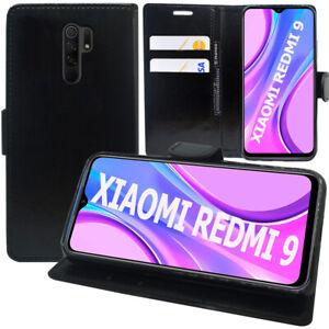 """Schutzhülle Für Xiaomi Redmi 9 6.53"""" M2004J19G Kunstleder Handy Brieftasche"""