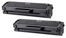 2PK MLT-D101S New Black Laser Toner Cartridge for Samsung SCX-3405, ML-2164