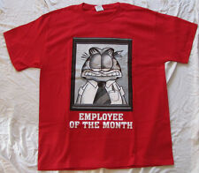 MENS GRAPHIC T-SHIRT SMALL GARFIELD EMPLOYEE OF THE MONTH COMIC STRIP FUNNIES!!!