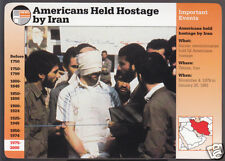 AMERICANS HELD HOSTAGE BY IRAN 1979-1981 History Grolier Story of America Card