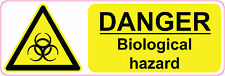 DANGER -BIOLOGICAL HAZARD health and safety, warning, first aid signs/stickers