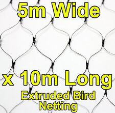 5mtr wide x 10mtr  BLACK Anti Bird Netting Fruit / Plant Tree Bird Netting / Net
