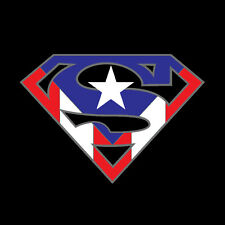 PUERTO RICO CAR DECAL STICKER SUPERMAN with FLAG #145