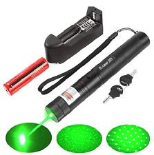500Mile 532nm 303 Laser Pointer Visible Beam Light Lazer Pen+18650+Charger