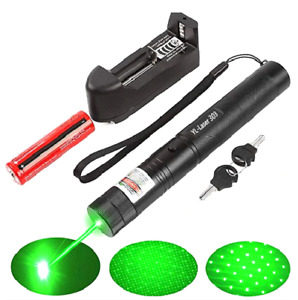 500Mile 532nm 303 Laser Pointer Visible Beam Light Lazer Pen+18650+Charger