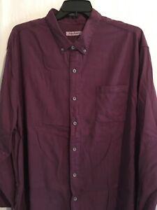 Tommy Bahama Shirt XLT 2XLT 2XB 3XB Rum Berry Purple Huntington Herringbone $150