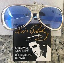 NEW ELVIS PRESLEY TCB SILVER Sunglasses Keychain Christmas Ornament Kurt Adler