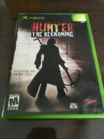 Hunter: The Reckoning (Xbox 2002) CIB COMPLETE CASE MANUAL One Owner NICE DISC