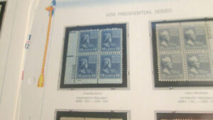 US Postage 1/2c to $1.00 1938 #803 to #832 Plate Blocks Mounted