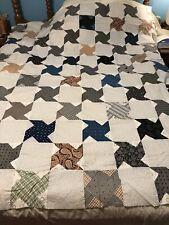 Antique Pinwheel Handmade Quilt Top