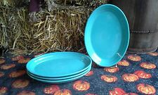 """Set 4 OVAL PLATTER small PLATE turquoise blue NEW FIESTA WARE 9 5/8"""""""