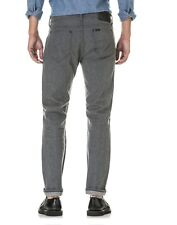 Lee 101 Rider Men's Japan Selvedge Denim Slim Fit Tube Leg Jeans Grey NEW 34x34