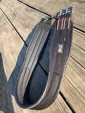 "nylon 52/"" HMK Pro Gel contoured English girth  soft black PVC"