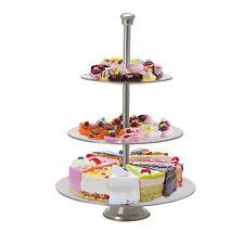 Etagere 3stöckig Metall Glas Cupcake Servier Kuchen PlatteObstschale ca 50 cm