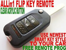 SMART KEY STYLE FLIP REMOTE FOR 04-08 HONDA ODYSSEY CHIP KEYLESS ENTRY FOB 4VAC