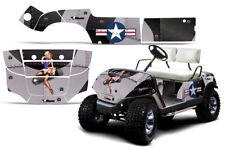 Golf Cart Grafiken Set Aufkleber für Yamaha 1995-2006 T-Bomber Schwarz