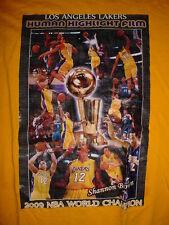 2009 NBA Shannon Brown-World Champion-Mens Los Angeles Lakers-Yellow-T Shirt-XL