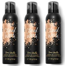 Lot Of 3 Victorias Secret Bare Vanilla Cloud Wash Foaming Gel Cleanser 4.6 oz