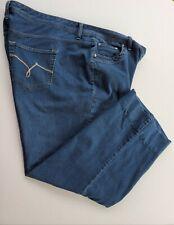 Just My Size, stretch boot leg denim short 22W cotton blend Women's blue jeans