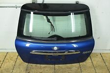 07-10 MINI COOPER R56 REAR TRUNK LIFT GATE WAY WINDOW COMPLETE BLUE OEM