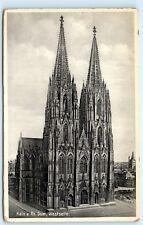 *1930s Koln A. Rh. Dom, Westseite Cathedral Chapel Church Germany Postcard B51