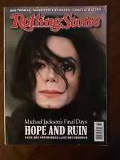 Michael Jackson's Final Days Rolling Stone Magazine 8 2009 Unfinished Recordings