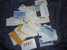 Joblot x50 Amateur Ham Radio QSL cards from Uk England mostly from 1960s lot1