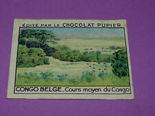 CHROMO CONGO BELGE N°233 COURS MOYEN CONGO CHOCOLAT PUPIER AFRIQUE 1938-1950