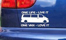 150mm (15cm) Adesivo BASATO SU VW Trasportatore FURGONE One Life DECALCOMANIA