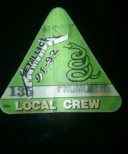 Metallica BackStage Pass 1991-92 Make An Offer!