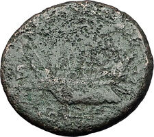 HADRIAN 132AD As GALLEY TRIREME SHIP Authentic Ancient Roman Coin of Rome i58381
