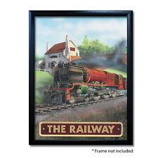 RAILWAY PUB SIGN POSTER PRINT | Home Bar | Man Cave | Pub Memorabilia