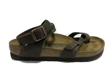 Birkenstock,Yara, Women's Habana Brown Leather Sandals, Euro 37, US 6M, 001339