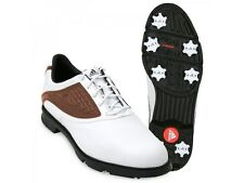 Adidas Adicore ZTraxion Golf Shoe White/Tan Size 8.5 US