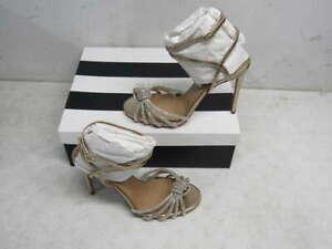 Aquazzura Women's US 8 EU 38 Celeste Embellished Sandals Light Copper 105