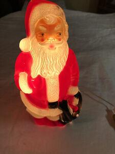 "Vtg 1968 Empire Santa Claus Table Christmas Lighted Plastic Blow Mold 13"""