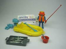 Playmobil Famobil REF 037 Pescador zodiac Lancha 3574 Fisherman fish boat